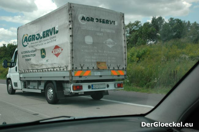 Der Lastkraftwagen aus der Slowakei am 19.7. auf der Ostautobahn in Richtung Wien