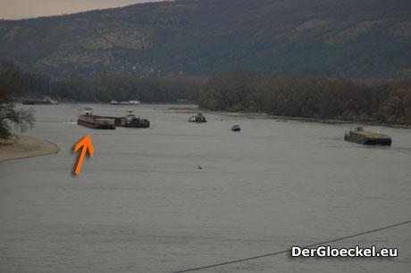 DDSG BAYERN auf Grund gelaufen - Behinderungen auf der Donau