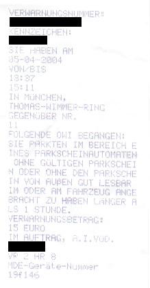 Knöllchen der Stadt München