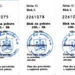 Quittungen für bezahltes Strafmandat in der Slowakei
