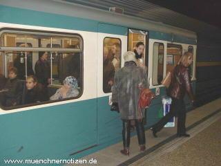Betriebsstörung U-Bahn München - die verriegelte Türe