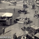 Straßenbild Boulevard Haussmann in Paris 1928