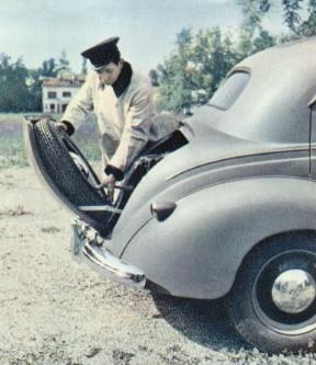 Der Kofferraum des Fiat 1500 E Berline aus den 1940er Jahren