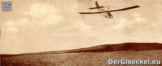 600-m-Flug des Jungsfliegers SCHUMANN am 26. Februar 1928