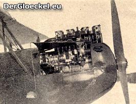 Ansicht des Motoreinbaues