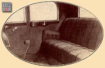 Hintersitze der HORCH-Limousine