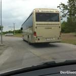Erst in Petronell konnte der Bus des Schienenersatzverkehrs der ÖBB eingeholt werden - 3 Fahrgäste wurden in Bad Deutsch-Altenburg zurückgelassen | Foto: DerGloeckel.eu